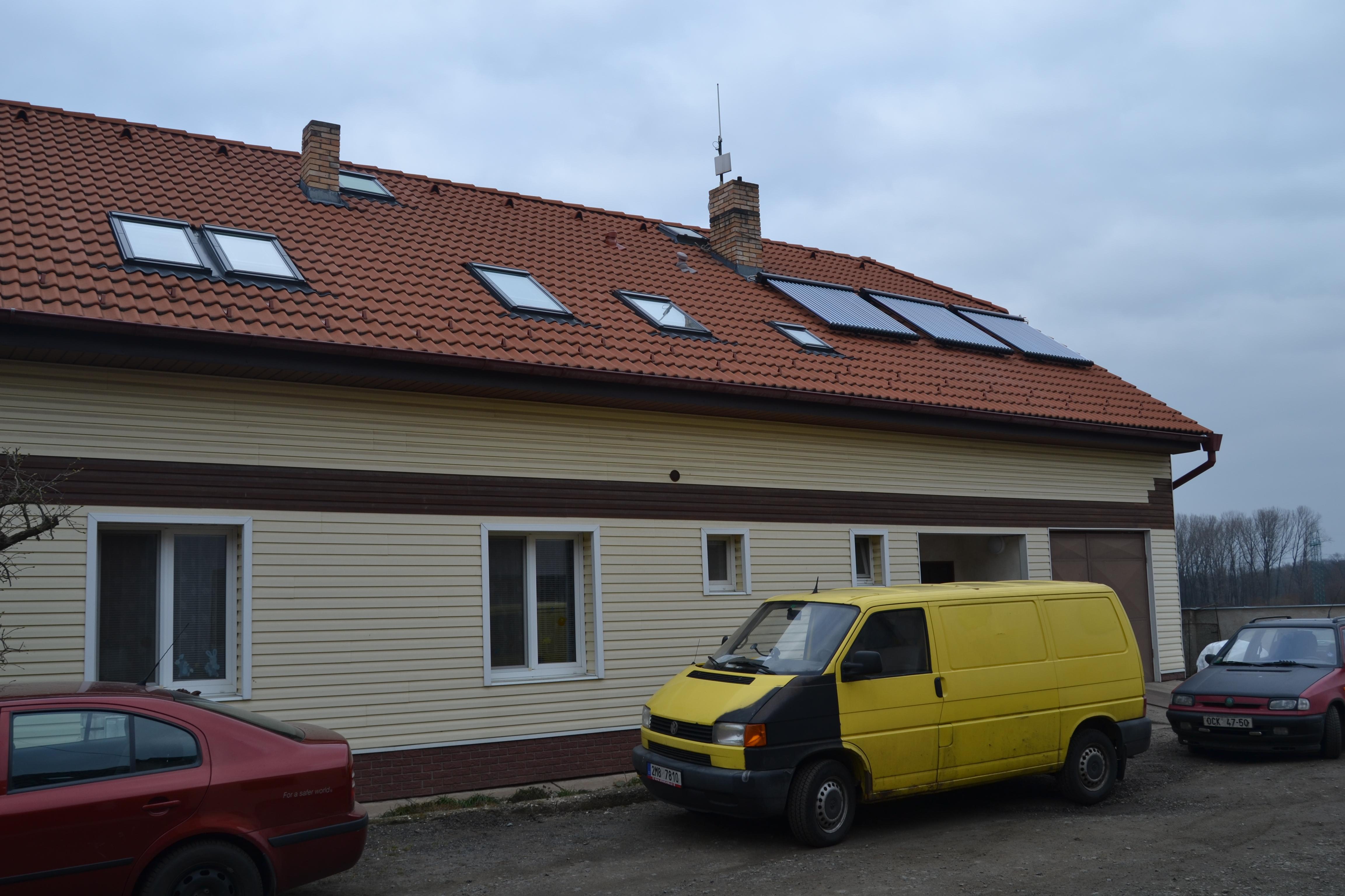 Solární systém s přitápěním Praha západ